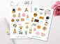 Preview: Girls Halloween Sticker Set